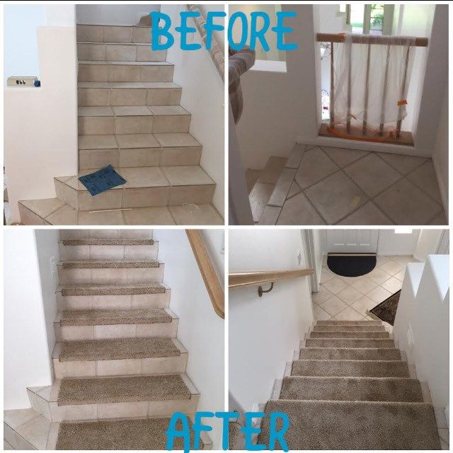 Carpet Stair Treads · Softer And Safer After True Bullnose Treads!