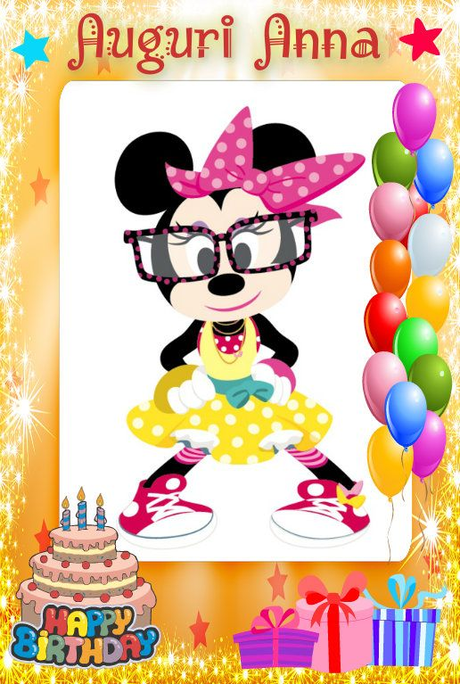 Compleanno Anna Disney Things Disney Mickey Minnie Mouse