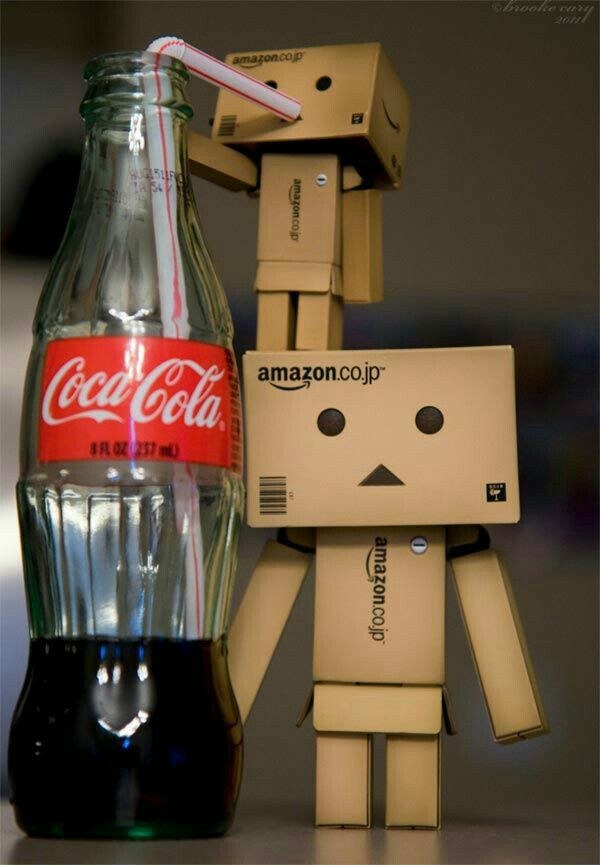 Danbo drinks coco cola