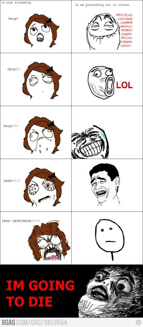 Never Ingore Your Mom Funny Comics Rage Comics Meme Comics