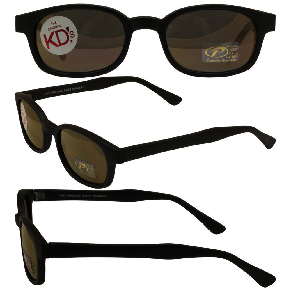 67ad6d423a Original KD s Biker Sunglasses with Gold Mirror Lenses  KDs ...