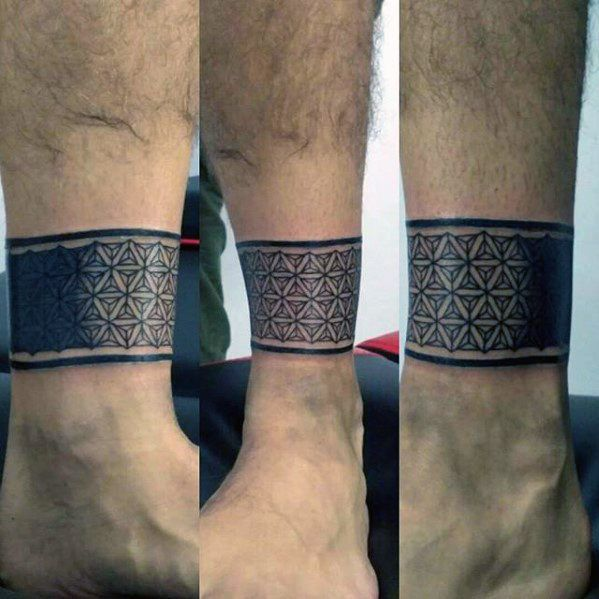 d3512f7d23e4ae 60 Ankle Band Tattoos For Men - Lower Leg Design Ideas | Tattoos For ...