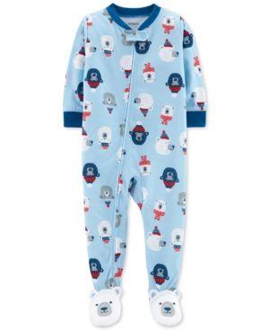 63d45533b Carter s Baby Boys 1-Pc. Polar Bear-Print Footed Pajamas - Multi 18 ...
