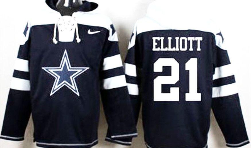 d9fd4b277 Ezekiel Elliott Dallas Cowboys pullover hoodie   hair   Dallas ...