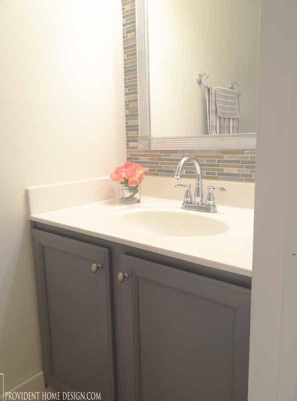 Powder bathroom makeover home decor home design - Half bath ideas on a budget ...