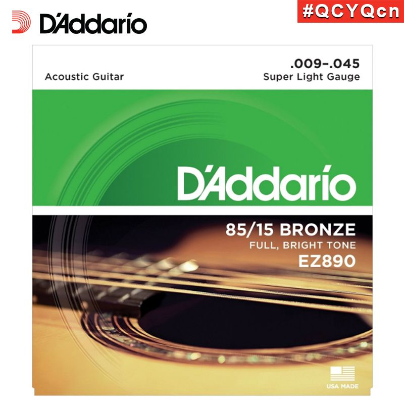 D Addario Ez890 American Made 85 15 Bronze Acoustic Guitar Strings Super Light 09 45 Acoustic Guitar Strings Acoustic Guitar Guitar Strings