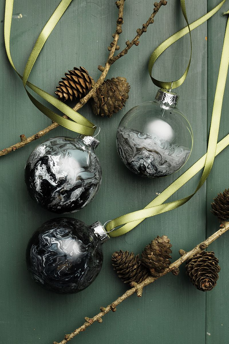 Marbled glass baubles ndurohobby christmas decor by