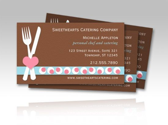 Personal Chef And Catering Culinary Business Cards Full Color 2 Sided