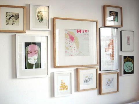 distribuye bien tus cuadros en la pared - Decorar Paredes Con Cuadros
