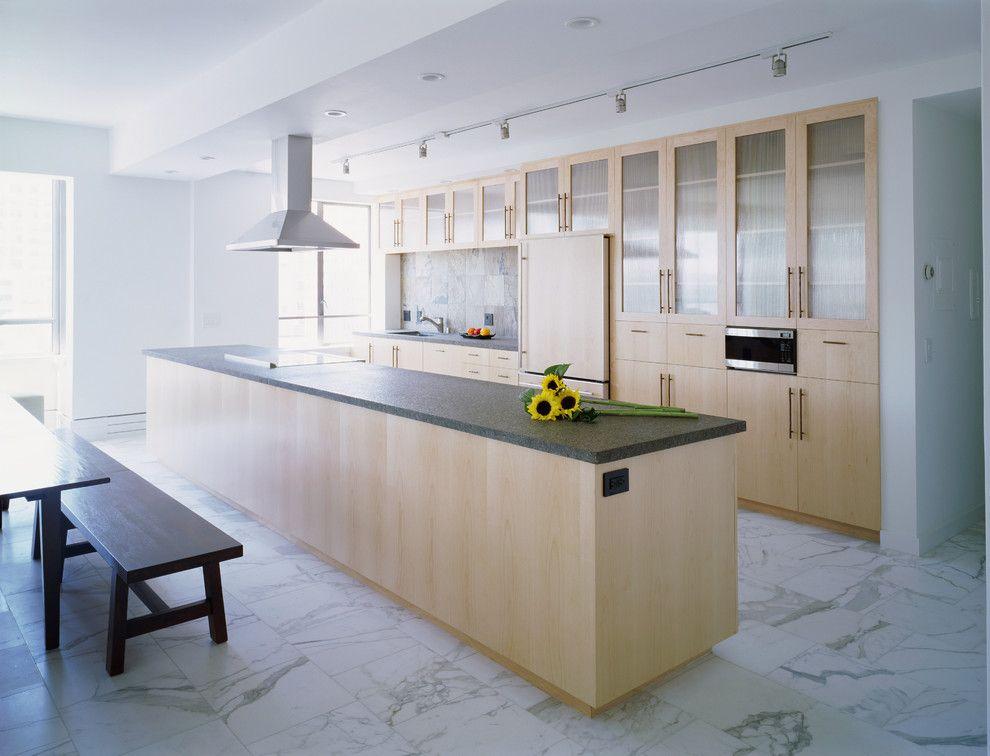 15 delightful kitchen designs with marble flooring for luxurious look - Birch Kitchen Design
