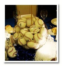 Balls in a big bowleat centerpiece for a sports fan balls in a big bowleat centerpiece for a sports fan junglespirit
