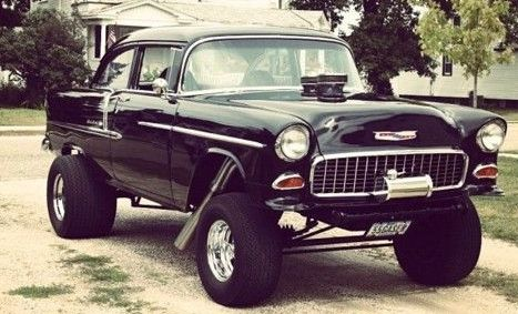 Mean 1955 Chevy Gasser Vintage Muscle Cars Muscle Cars Classic Cars Muscle
