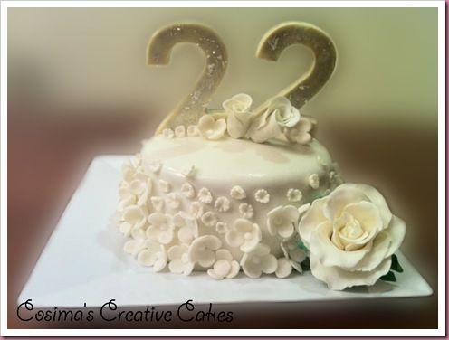 Our 22nd Anniversary Cake Dengan Gambar Pernikahan