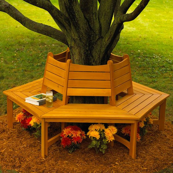 Made In The Shade Tree Bench Woodworking Plan From Wood Magazine Outdoor Furniture Plans Tree Bench Backyard Diy Projects