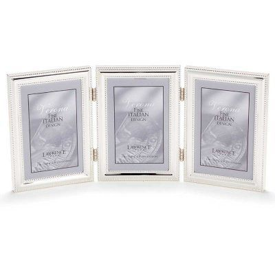 Lawrence Frames Silver Plated Delicate Beading Vertical Triple
