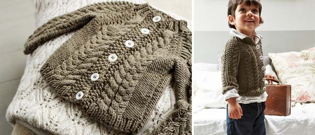 Knit A Toddler S Cabled Cardigan Free Knitting Pattern Baby