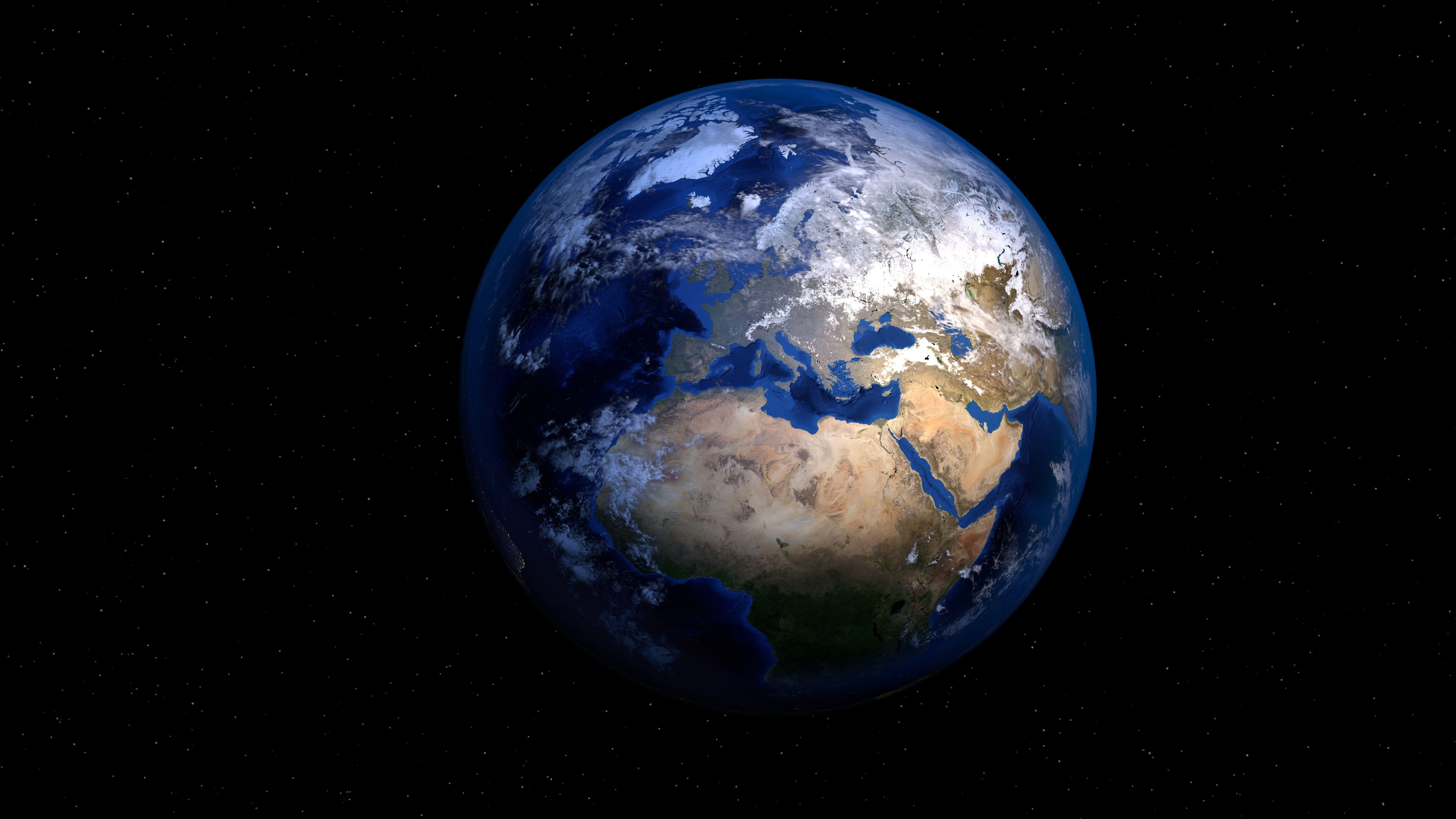 Blue Globe 5k Earth Dark Background World Planet 5k Wallpaper Hdwallpaper Desktop Planets Earth Earth Day Quotes