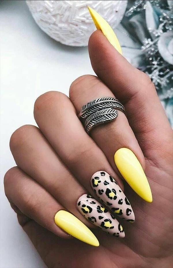 Photo of 57 Chic Acrilico Giallo Nails Art For Spring Nails Design – Le ultime tendenze della moda per donna