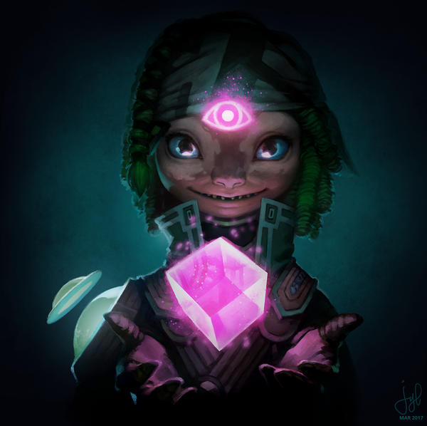 Guild Wars 2 Portrait Commissions Asura Mesmer By Duckgirl722