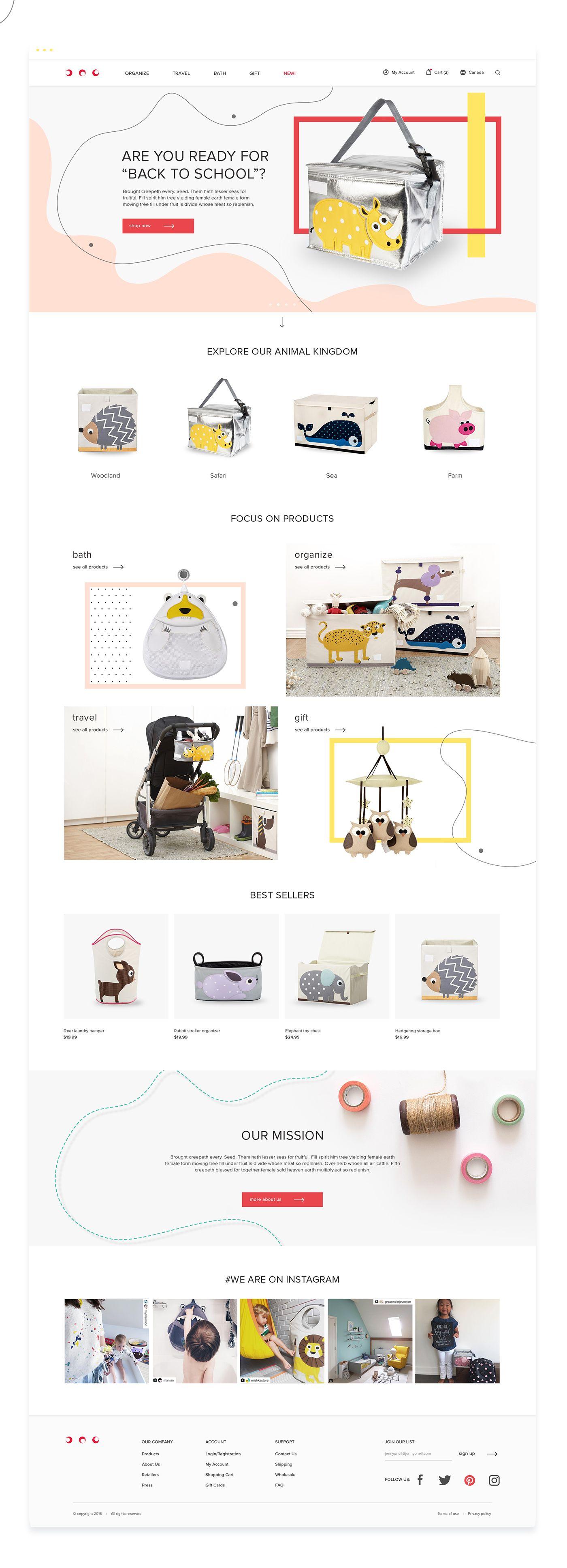 Concept of Children's brand eCommerce website on Behance