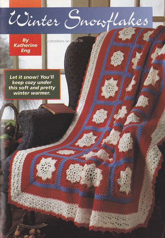 Snowflakes Afghan Crochet Pattern - Christmas or Winter Throw