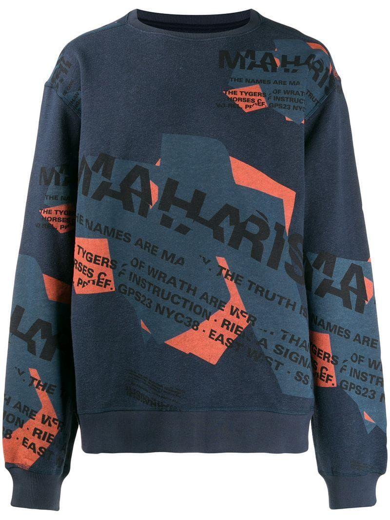 Old School Typography Printed Sweater Hipster Design Print Tee Street Art