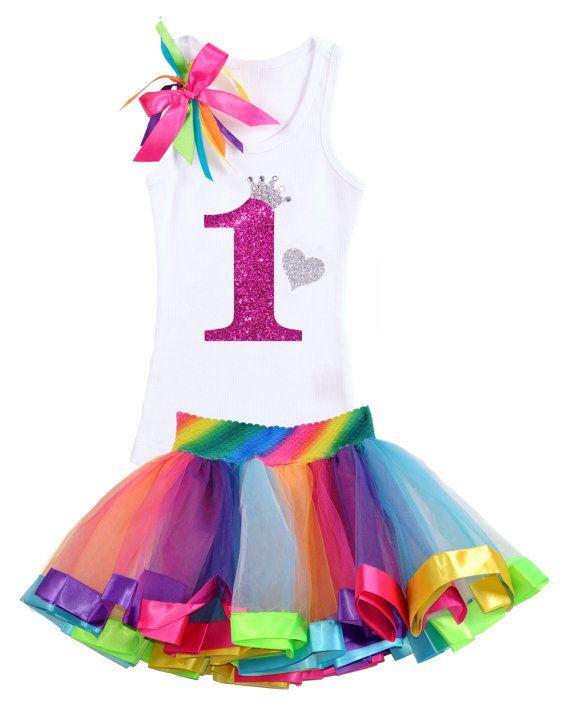 Bubblegum Divas Big Girls 7th Birthday Princess Crown Heart Tank Top Shirt