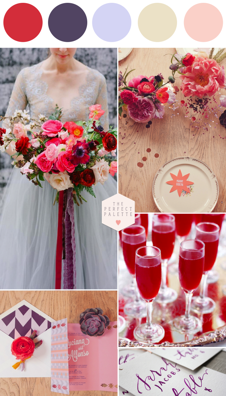 Poppy And Lavender A Color Story Www Theperfectpalette Ideas