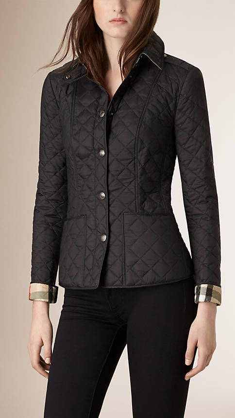 Quilted Jackets & Puffers for Women | Quilted jacket, Diamond ... : diamond quilted jacket burberry - Adamdwight.com
