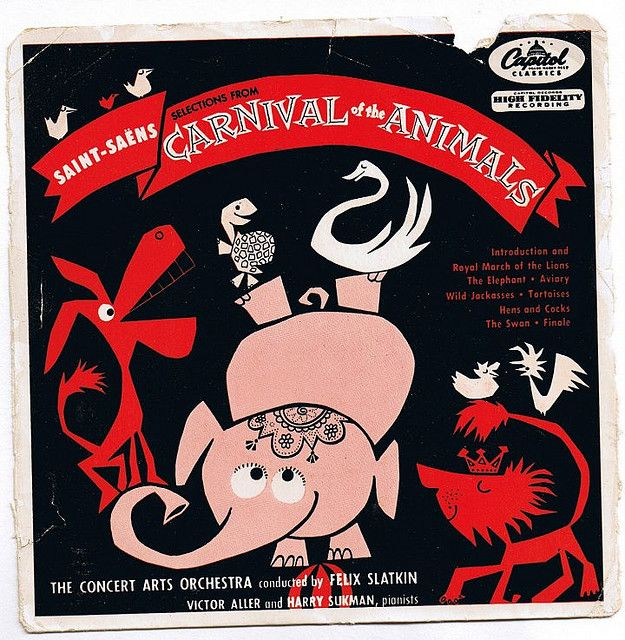Carnival of the animals by Bonito Club, vintage album cover