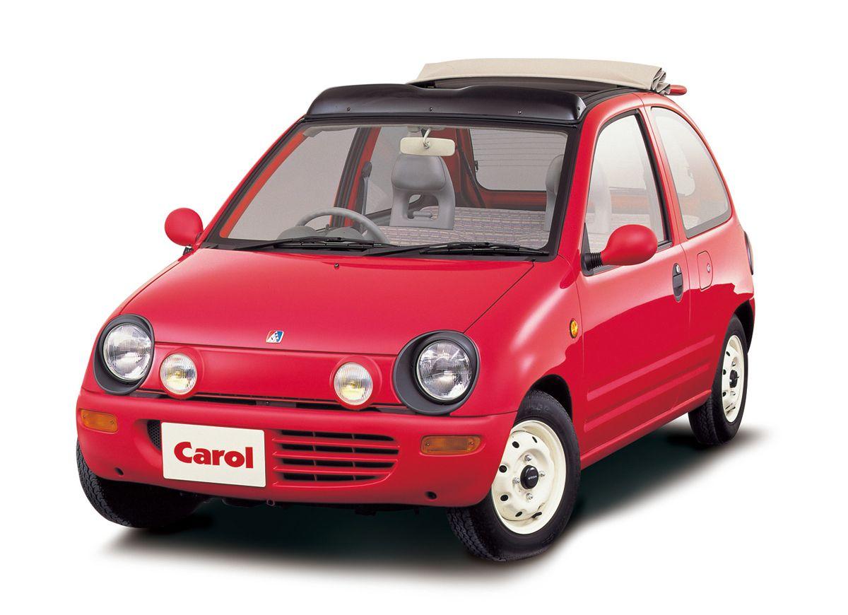 1989年 2代目キャロル 2nd Carol キャロルという車名が日本で復活したのは1962 年以来のことで 軽自動車のフォーマットの上にオリジナルのキャロルと同じように親しみが沸く愛らしいデザインが与えられ 更にターボ キャンバス Kei Car Mazda Cars Japanese