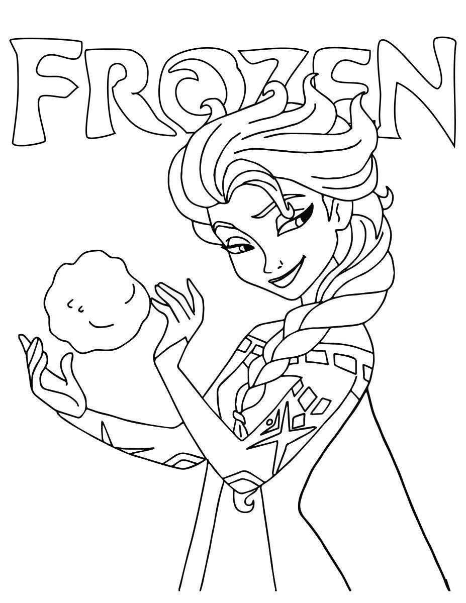 Princesse Elsa Disney Frozen Dessin à Imprimer зірка