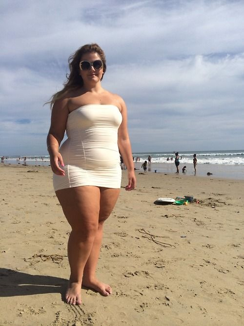 Chubby women on the beach