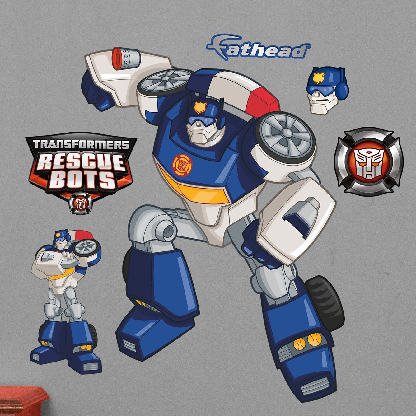 Hasbro Transformers Chase Rescue Bots Peel and Stick Wall