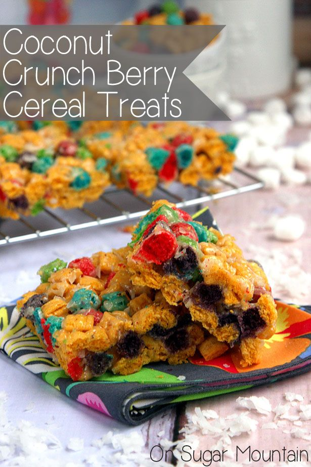 Crunch Berry Cereal Treats - On Sugar Mountain