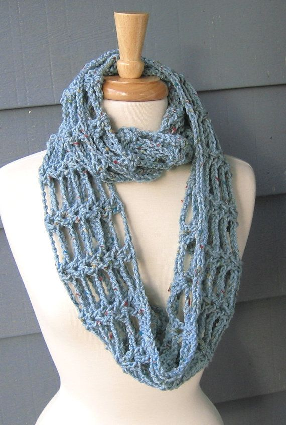 PATTERN S-065 / Crochet Pattern / Toni Scarf ... 280 yards worsted ...