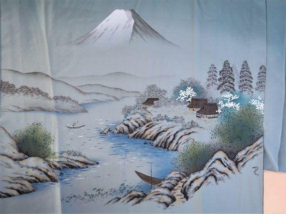 MENS KIMONO Juban UnderKimono Silk Vintage by WandererTextiles