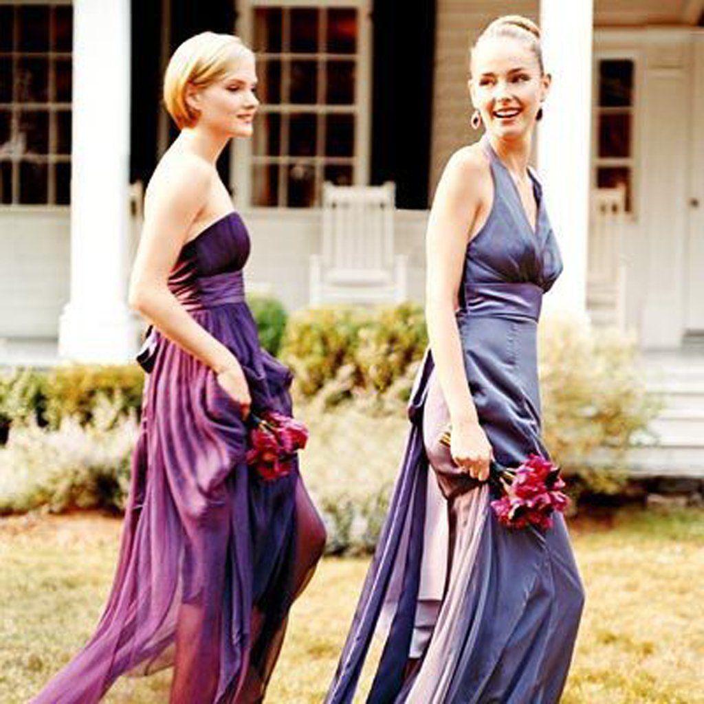 Aline strapless purple chiffon long bridesmaid dresses with belt