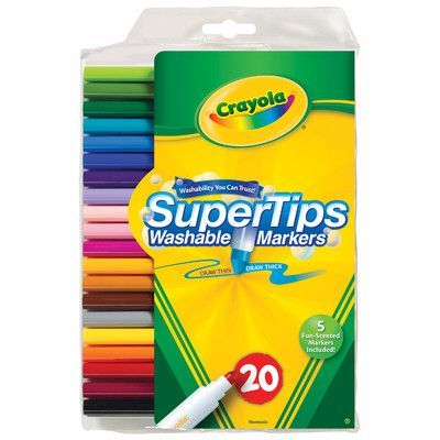 Crayola Super Tips Washable Markers (20 Pack) (Set of 2)