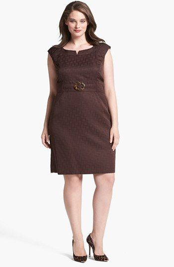 Tahari Jacquard Sheath Dress Plus Size Nordstrom My Closet