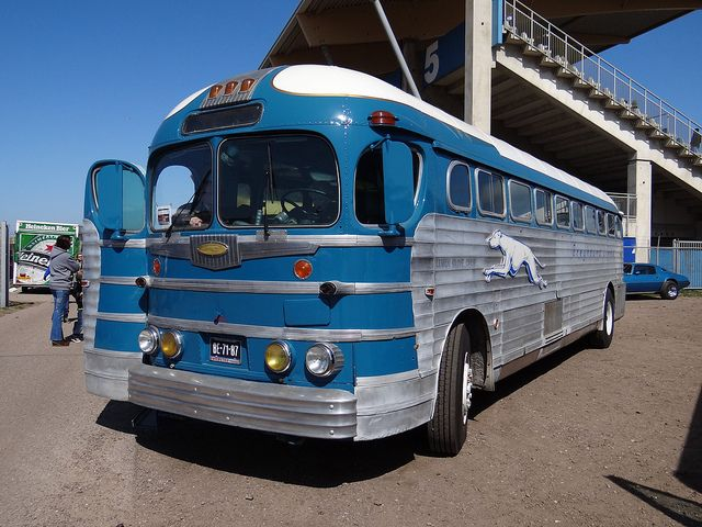 1948 Gm Pd4151 Greyhound Silverside Greyhound Bus With Images