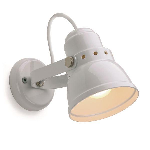 wandlamp klein wit dejaren30fabriek industrials design