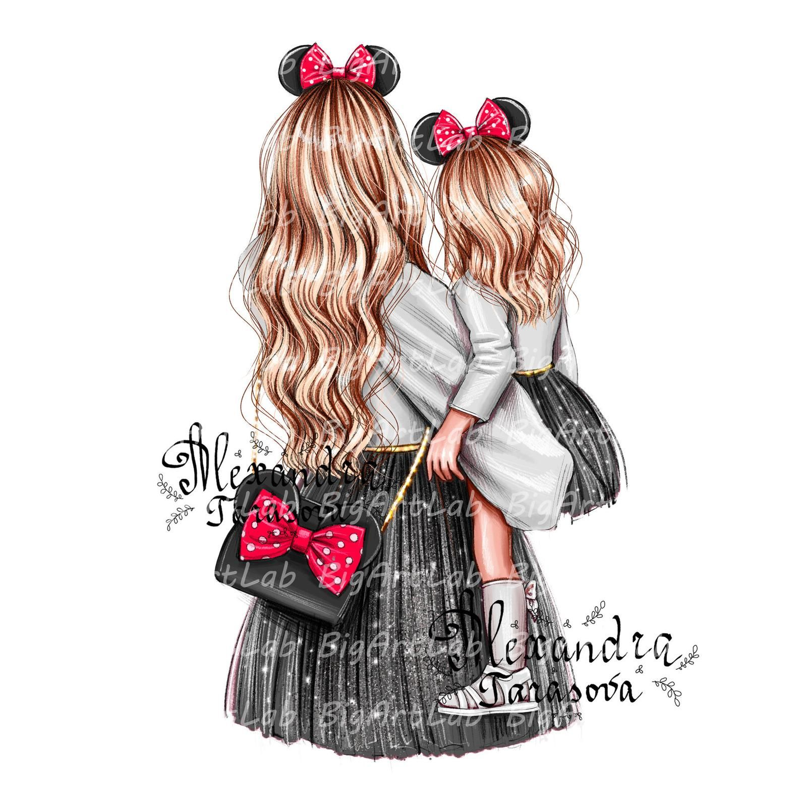 Instant download girl chanel bag png files clipart wall art fashion illustration girl friend gift digital watercolor love style disney