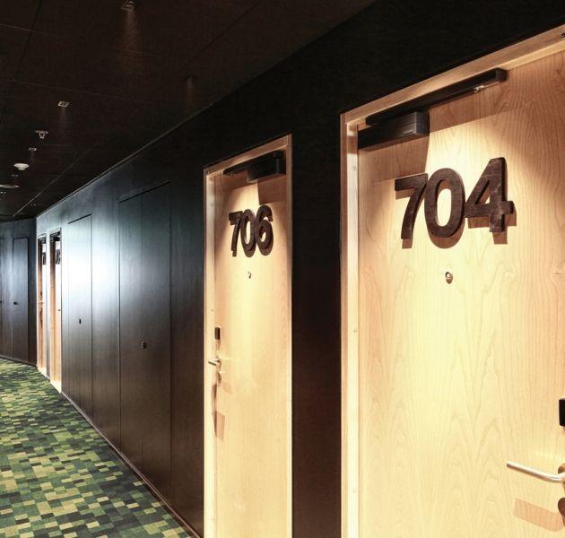 Hotel U U0026 Me   Sweden #Balsan #hotel #Sweden #Uu0026Me #design #corridor #doors  #interior #interiors #decor #decoration #ideas #color #carpet #modern ...