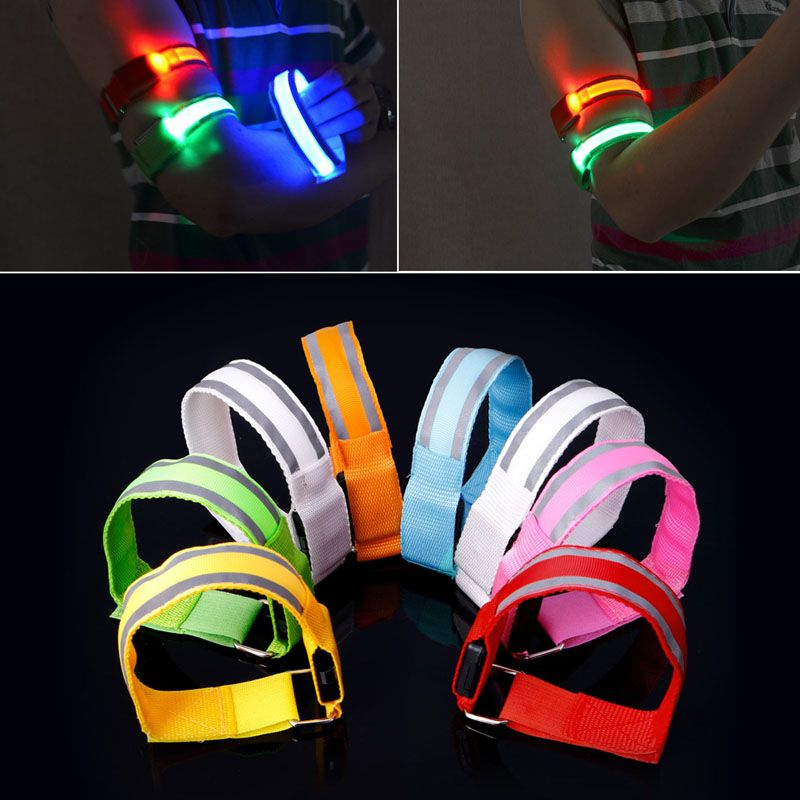 Night Safety Reflective Wrist Band Arm Ankle Belt Strap Cycling Running ArmbandV