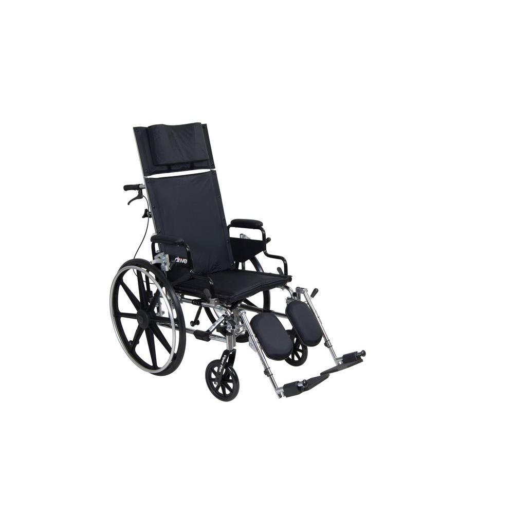 Drive Viper Plus GT Full Reclining Wheelchair with 16 in. Seat and Desk Arms