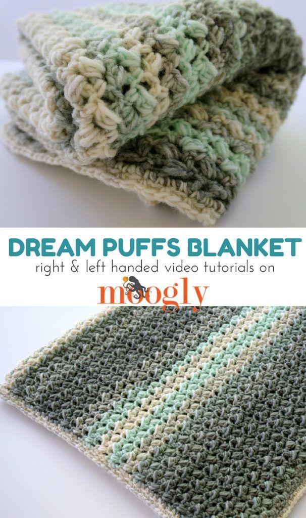 Dream Puffs Blanket Tutorial | Manta, Ganchillo y Bebé