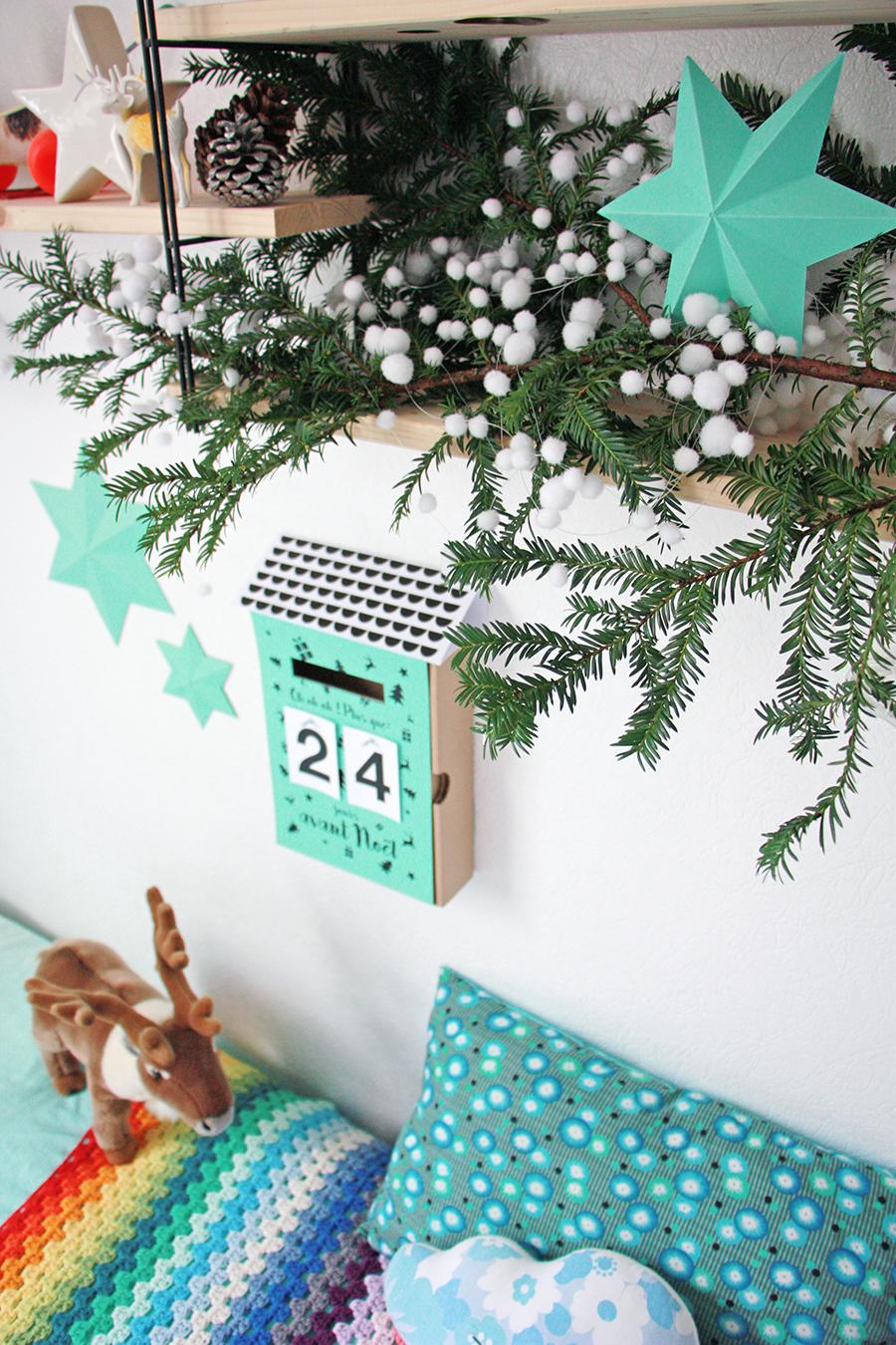 la nouvelle bo te aux lettres calendrier de l 39 avent pour mes jolis momes avent et calendrier de. Black Bedroom Furniture Sets. Home Design Ideas