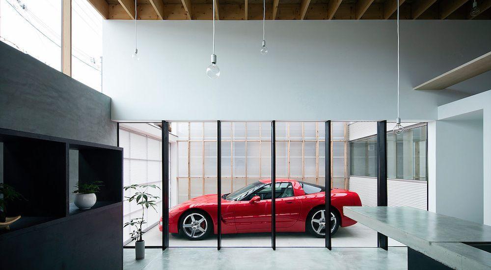 Cette Maison Japonaise Fait Du Garage Sa Pièce Centrale Httpwww