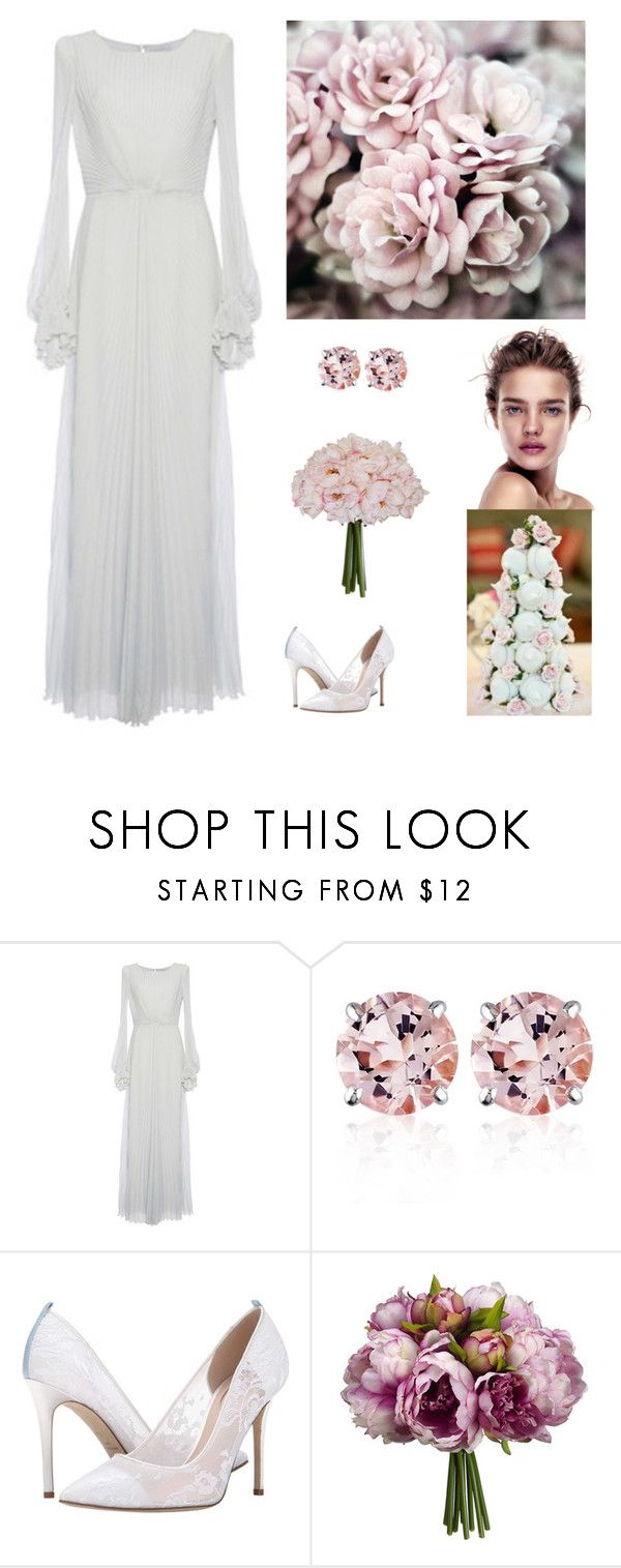 """""""In my grandma's wedding dress"""" by dezaval ❤ liked on Polyvore featuring LUISA BECCARIA, Belk & Co. and SJP"""